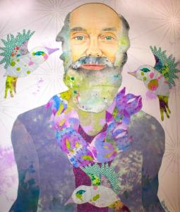 Ram Dass portrait artwork